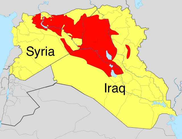 ISIS controls a piece of real estate in the middle east that is larger than the United Kingdom.