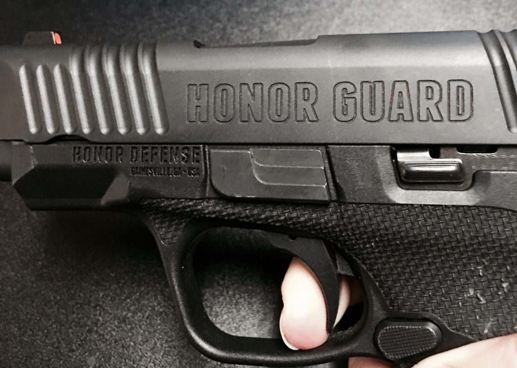 The Honor Guard has a super crisp trigger pull and a wonderful tactical reset.