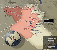 Area that ISIS controls.