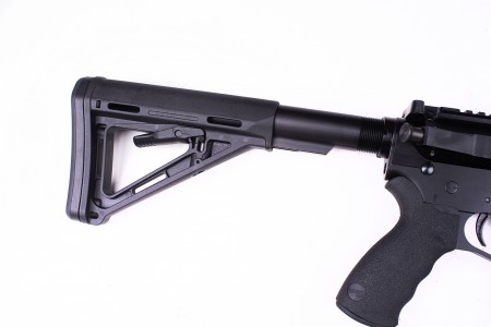 Peacemaker JFM15 AR15: Standard with a MagPul MOE stock & Ergo Grip.