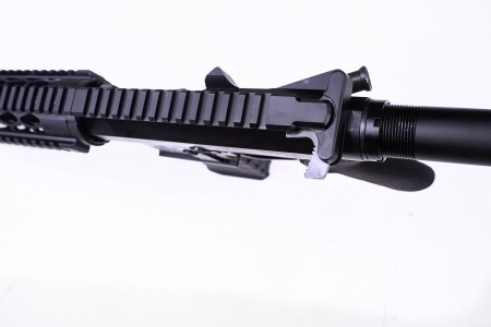 The Peacemaker JFM15 comes standard with an upgraded TCH charging handle.