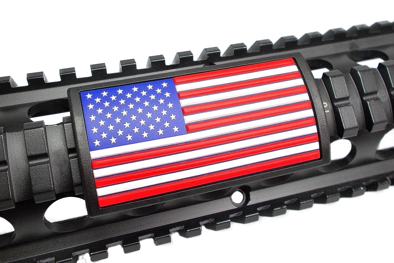 Thin Green Line Flag >> American Flag Rail Covers for Your AR15 (or any gun!) – Florida Gun Supply | Get armed. Get ...