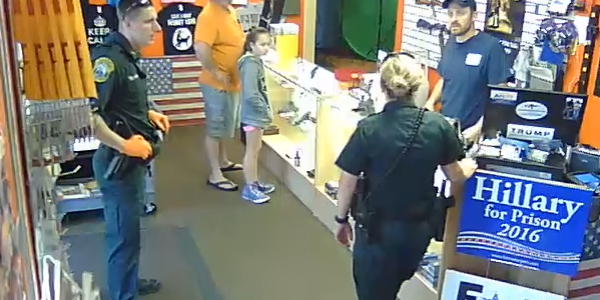 Why did the cops show up to Florida Gun Supply today?