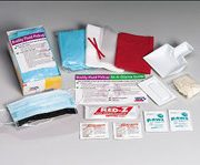 16 piece Bodily fluid clean-up pack- disposable tray- 1 ea.