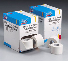 1-1/2 in. x10 yd. Porous cloth athletic tape roll- 16 per dispenser box