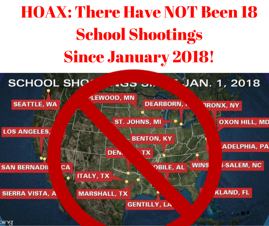 School Shooting Statistics 2018: HOAX: There Were NOT 18 School Shootings In January 2018