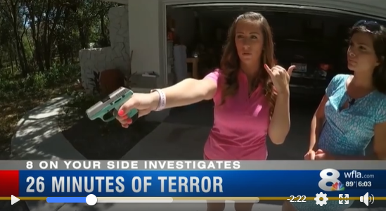 Florida Woman Holds Intruder at Gunpoint for 26 Minutes (Before Police Arrive!)
